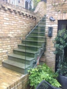 external glass staircase