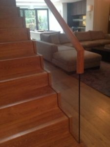 interior staircase glass
